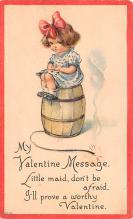 val200753 - Valentines Day Post Card Old Vintage Antique Postcard