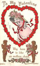 val200755 - Valentines Day Post Card Old Vintage Antique Postcard