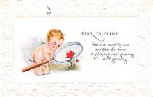 val200769 - Valentines Day Post Card Old Vintage Antique Postcard