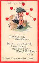 val200775 - Valentines Day Post Card Old Vintage Antique Postcard