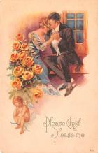 val200783 - Valentines Day Post Card Old Vintage Antique Postcard
