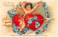 val200785 - Valentines Day Post Card Old Vintage Antique Postcard