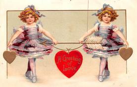 val200787 - Valentines Day Post Card Old Vintage Antique Postcard