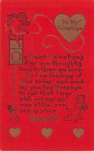 val200791 - Valentines Day Post Card Old Vintage Antique Postcard