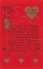 val200793 - Valentines Day Post Card Old Vintage Antique Postcard