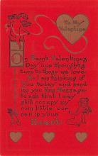 val200795 - Valentines Day Post Card Old Vintage Antique Postcard