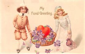 val200799 - Valentines Day Post Card Old Vintage Antique Postcard