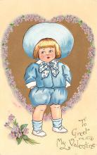 val200801 - Valentines Day Post Card Old Vintage Antique Postcard