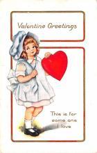 val200803 - Valentines Day Post Card Old Vintage Antique Postcard