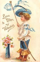 val200805 - Valentines Day Post Card Old Vintage Antique Postcard