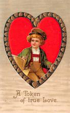 val200807 - Valentines Day Post Card Old Vintage Antique Postcard