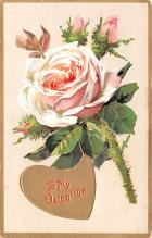 val200815 - Valentines Day Post Card Old Vintage Antique Postcard