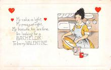 val200819 - Valentines Day Post Card Old Vintage Antique Postcard