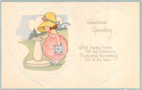 val200821 - Valentines Day Post Card Old Vintage Antique Postcard