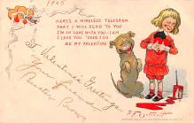 val200825 - Valentines Day Post Card Old Vintage Antique Postcard