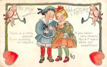 val200829 - Valentines Day Post Card Old Vintage Antique Postcard