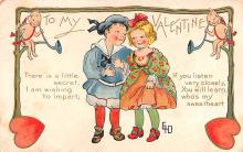 val200831 - Valentines Day Post Card Old Vintage Antique Postcard