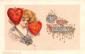 val200835 - Valentines Day Post Card Old Vintage Antique Postcard
