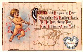 val200839 - Valentines Day Post Card Old Vintage Antique Postcard