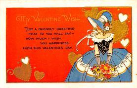 val200841 - Valentines Day Post Card Old Vintage Antique Postcard