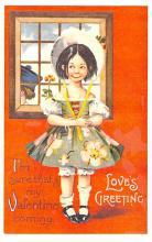 val200843 - Valentines Day Post Card Old Vintage Antique Postcard