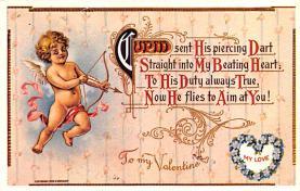 val200845 - Valentines Day Post Card Old Vintage Antique Postcard