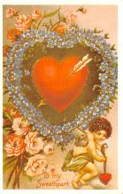 val200847 - Valentines Day Post Card Old Vintage Antique Postcard