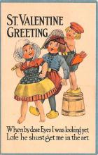 val200849 - Valentines Day Post Card Old Vintage Antique Postcard