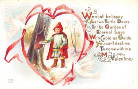 val200859 - Valentines Day Post Card Old Vintage Antique Postcard