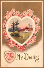val200861 - Valentines Day Post Card Old Vintage Antique Postcard