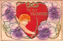 val200863 - Valentines Day Post Card Old Vintage Antique Postcard
