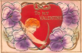val200863 - Valentines Day Post Card Old Vintage Antique Postcard