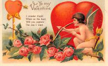 val200867 - Valentines Day Post Card Old Vintage Antique Postcard