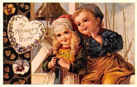 val200875 - Valentines Day Post Card Old Vintage Antique Postcard