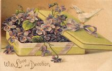 val300025 - With Love and Devotion Valentine Postcard