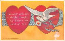 val300029 - Two Souls with but a single Thought Valentine Postcard