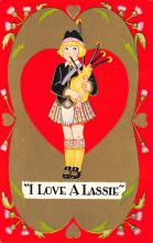 val300037 - I love a Lassie Valentine Postcard