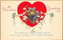 val300091 - A Valentine Greeting Postcard