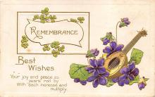 val300095 - Remembrance Best Wishes Postcard