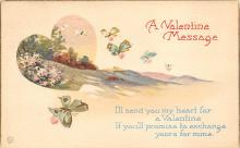 val300109 - A Valentines Message Postcard