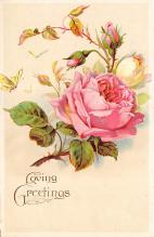 val300143 - Rose, Loving Greetings Postcard
