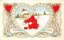 val300151 - Found at Last Valentines Day Postcard
