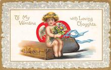 val300183 - With Loving thoughts Valentines Day Postcard