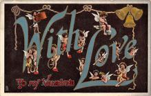 val300185 - With love Valentines Day Postcard