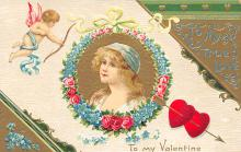 val300195 - To my Valentine Postcard