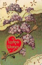 val300225 - Loving Wishes Valentines Day Postcard