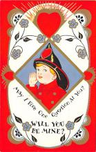 val300301 - Fireman Valentine will you be mine Postcard