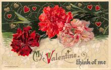 val300425 - My Valentine think of me Postcard