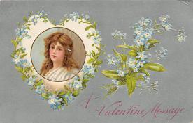 val300447 - A Valentine Message Postcard
