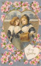val300459 - Silk Heart, Valentines Day Postcard